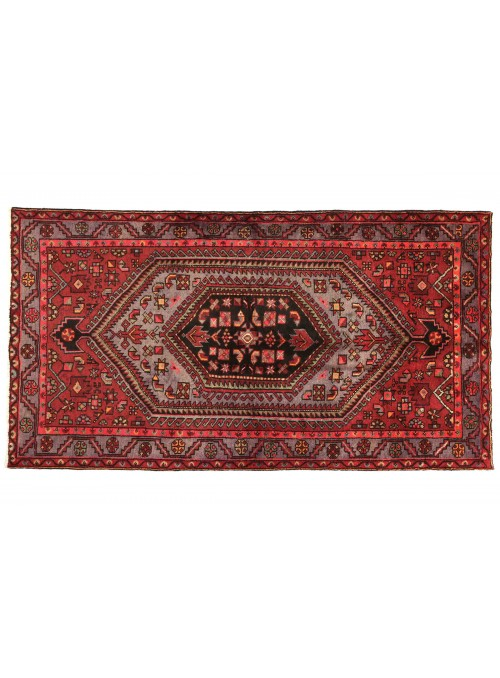 Carpet Hamadan Red 130x210 cm Iran - 100% Wool