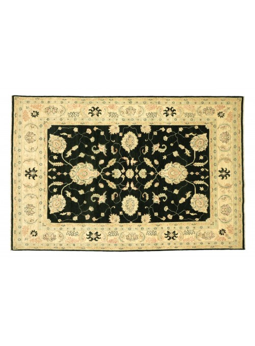 Teppich Chobi Schwarz 210x290 cm Afghanistan - 100% Hochlandschurwolle