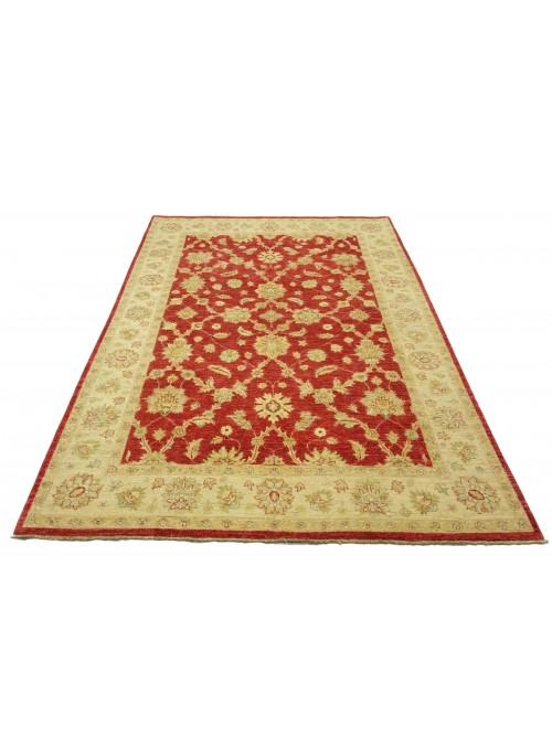 Teppich Chobi Rot 200x280 cm Afghanistan - 100% Hochlandschurwolle