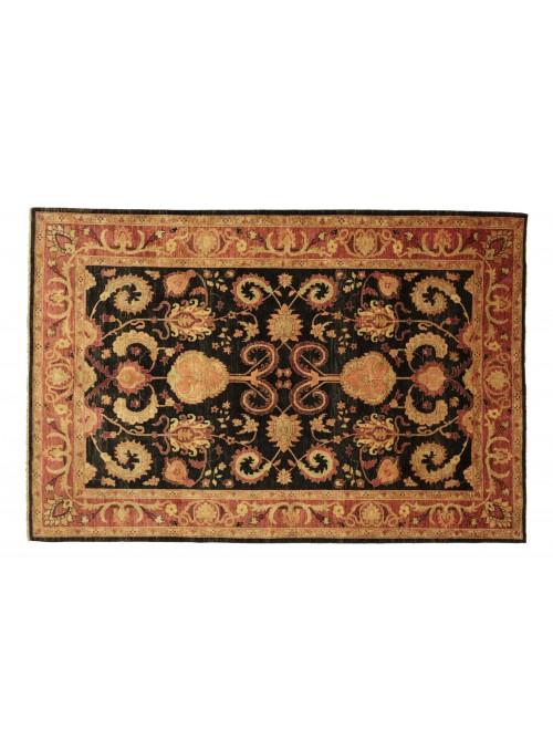 Teppich Chobi Schwarz 220x280 cm Afghanistan - 100% Hochlandschurwolle
