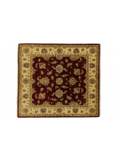 Teppich Chobi Rot 150x150 cm Afghanistan - 100% Hochlandschurwolle