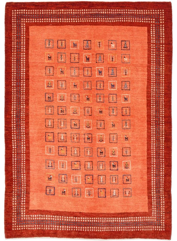 Hand made carpet Persian Gabbeh Loribaft 100x150cm 100% wool