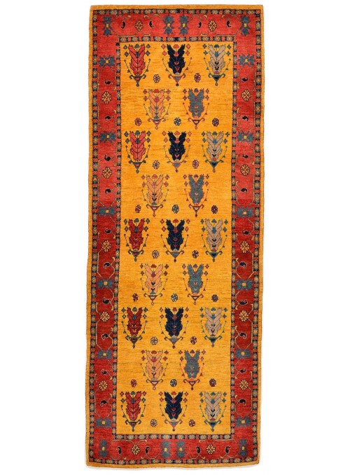 Hand made carpet Persian Gabbeh Loribaft 85x250cm 100% wool runner