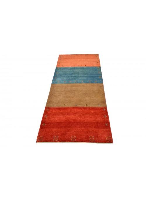 Ręcznie tkany dywan Loribaft Gabbeh Iran 100% wełna ok 80x200cm chodnik