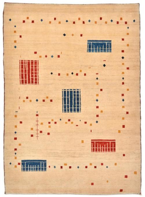Ręcznie tkany dywan Loribaft Gabbeh Iran 100% wełna ok 110x160cm