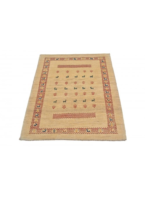 Hand made carpet Persian Gabbeh Loribaft 85x110cm 100% wool
