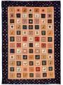 Ręcznie tkany dywan Loribaft Gabbeh Iran 100% wełna ok 90x60cm