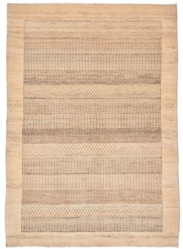 Hand made carpet Persian Gabbeh Loribaft 120x120cm 100% wool