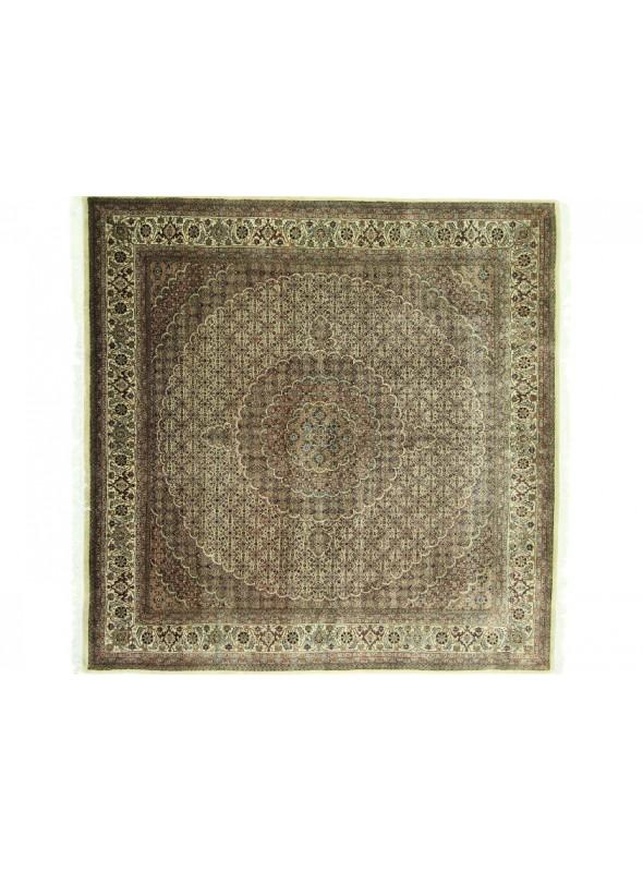 Exklusiv Orient Teppich handgeknüpft Iran Tabriz 40Raj 250x250cm Wole mit Seide quadratisch