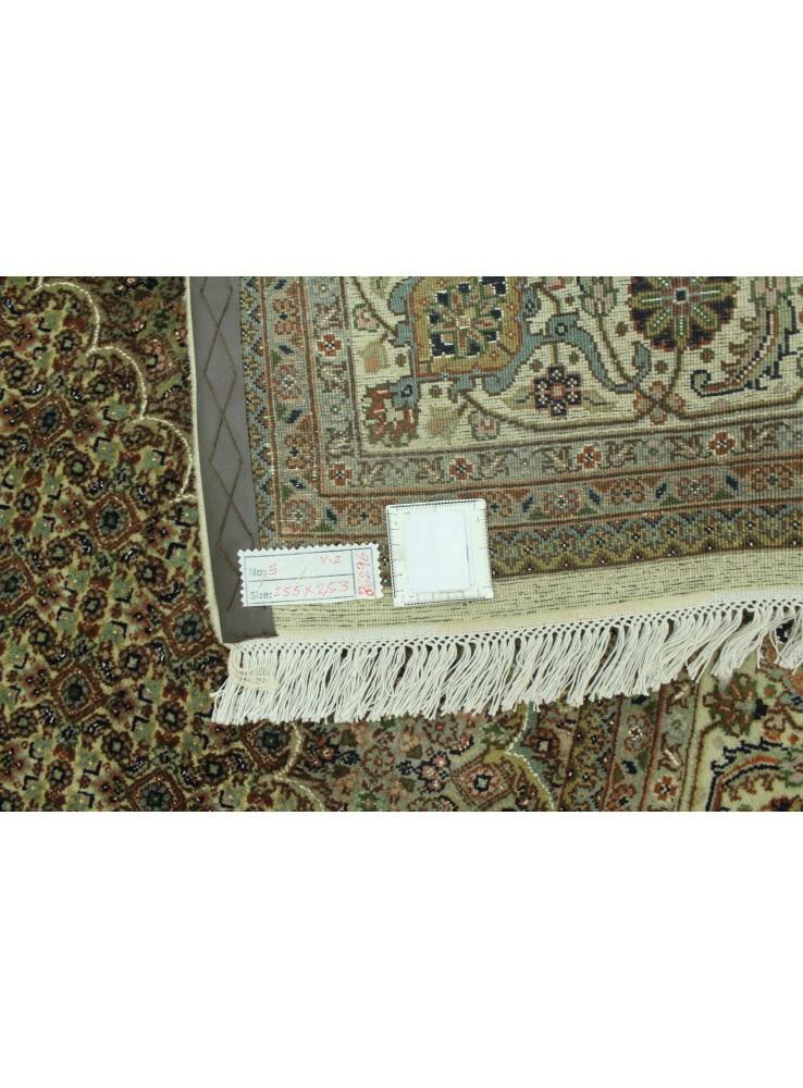 Handgeknuepft Orientteppich Iran Tabriz 250x250cm Wolle