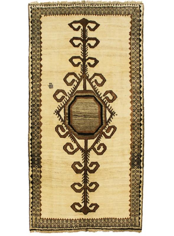 Handgeknüpft Gabbeh Kashkuli Teppich 150x270 Handgesponnene Wolle Iran