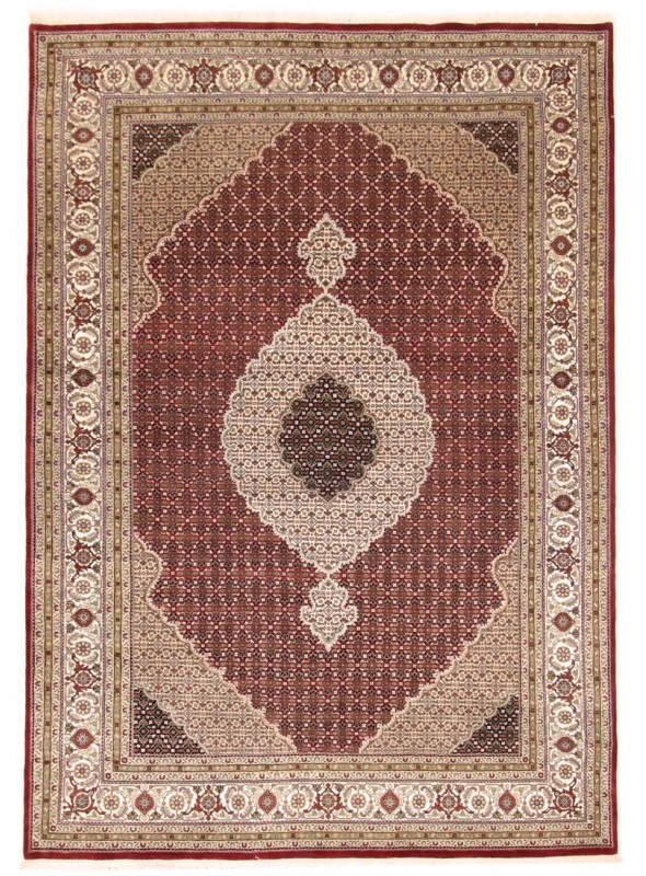 Orient Teppich handgeknüpft Indien Tabriz Mahi 250x350cm Wole/Seide