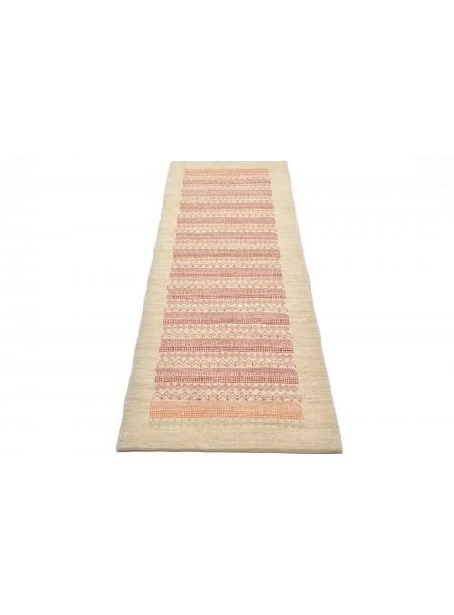 Ręcznie tkany dywan Loribaft Gabbeh Iran 100% wełna ok 90x300cm chodnik