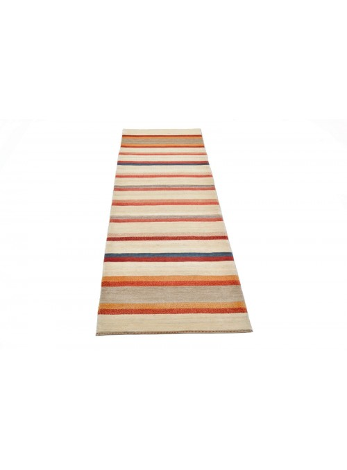 Hand made carpet Persian Gabbeh Loribaft runner 90x300cm 100% wool