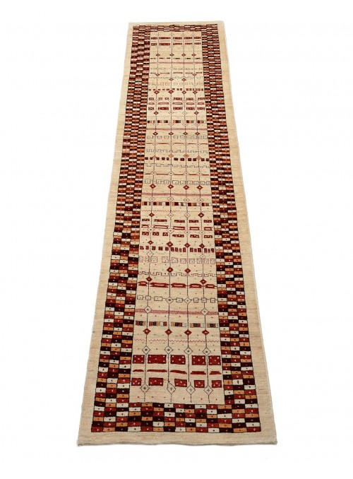 Hand made carpet Persian Gabbeh Loribaft runner 90x400cm 100% wool