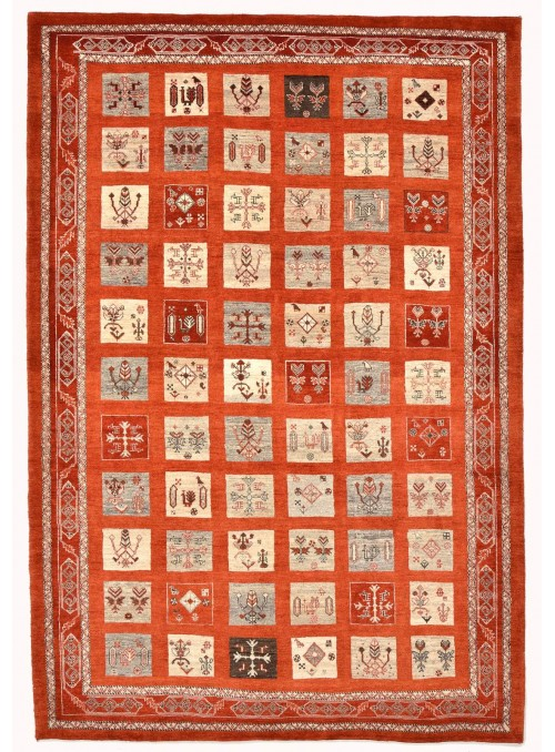 Perser Gabbeh Loribaft Läufer Galerie ca. 170x240 cm 100 % Wolle rot