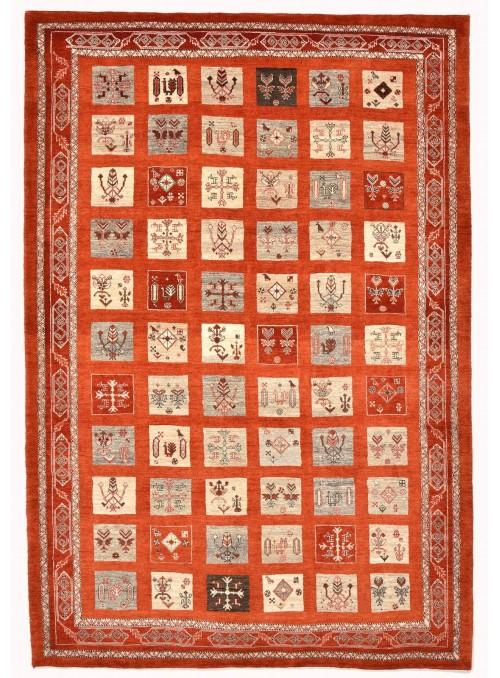 Ręcznie tkany dywan Loribaft Gabbeh Iran 100% wełna ok 170x240cm czerwony