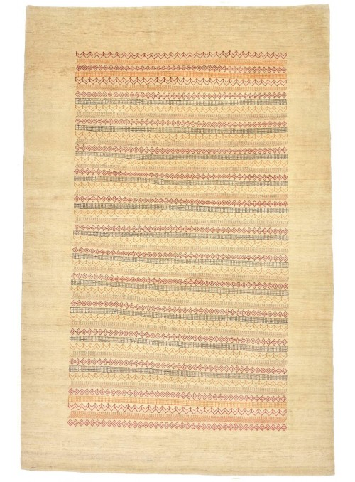 Hand-made Persian carpet Gabbeh Loribaft ca. 200x300cm 100% wool beige