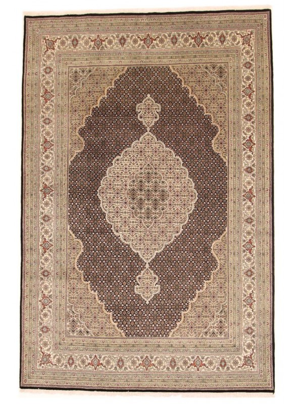Handmade Carpet 250x350cm Iran Tabriz Mahi Black Luxury