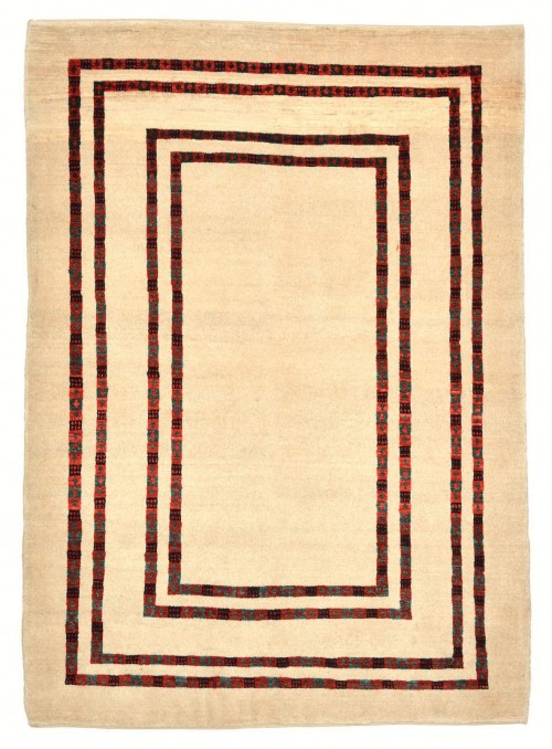 Hand-made Persian carpet Gabbeh Loribaft ca. 130x180cm 100% wool beige
