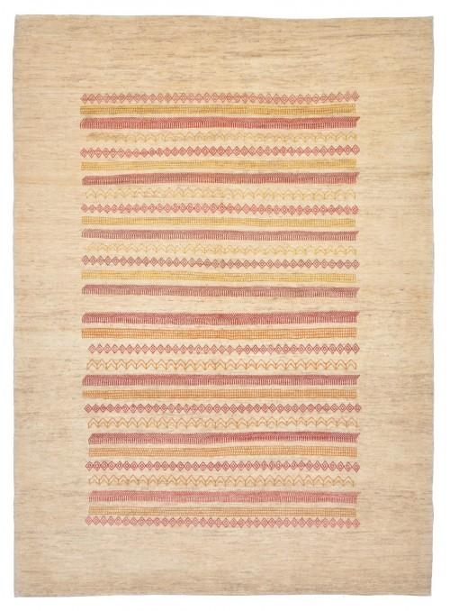 Ręcznie tkany galeryjny dywan perski Gabbeh Loribaft Iran 170x240cm wełna beżowy
