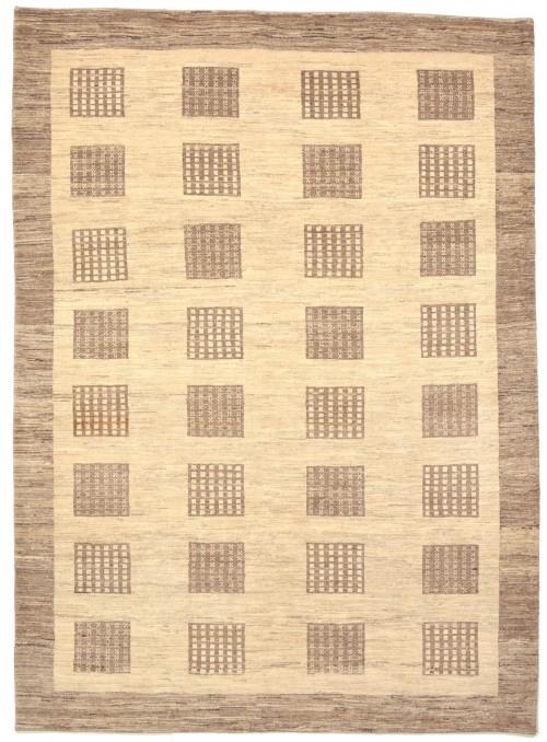 Hand-made Persian carpet Gabbeh Loribaft ca. 200x260cm 100% wool beige