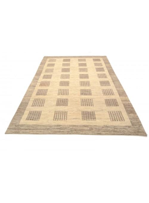 Ręcznie tkany galeryjny dywan perski Gabbeh Loribaft Iran 200x260cm wełna beżowy
