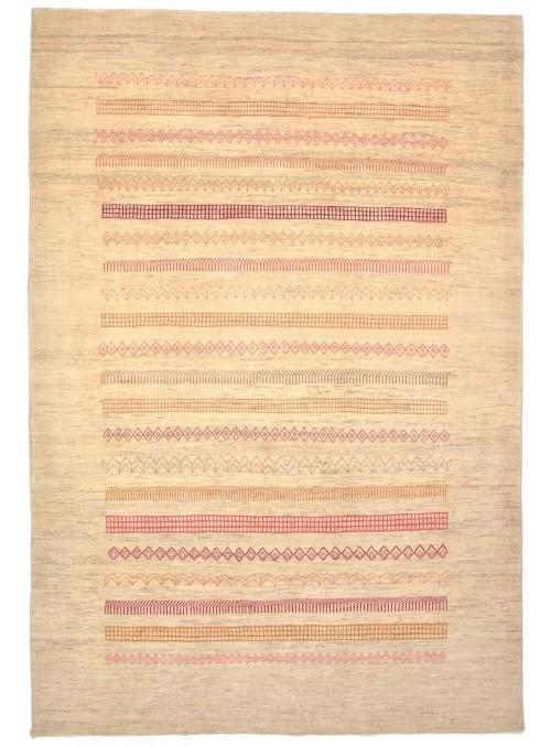 Hand-made Persian carpet Gabbeh Loribaft ca. 200x300cm 100% wool beige