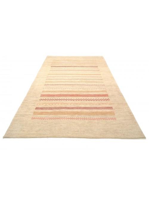Ręcznie tkany galeryjny dywan perski Gabbeh Loribaft Iran 200x300cm wełna beżowy