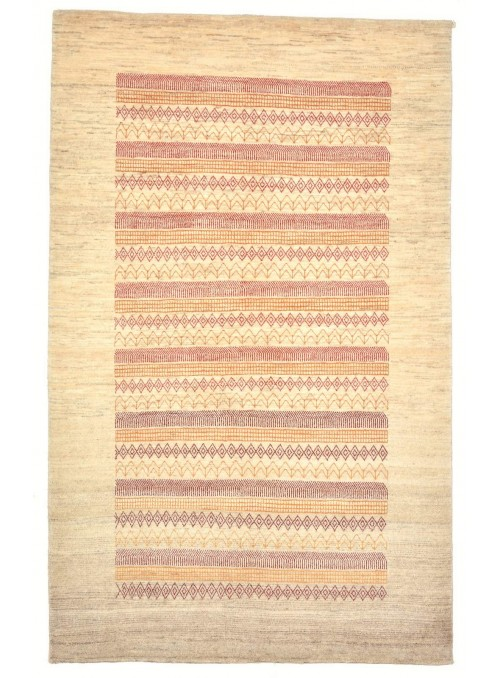 Hand-made Persian carpet Gabbeh Loribaft ca. 130x200cm 100% wool beige
