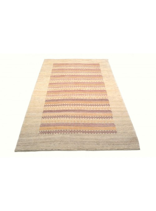 Perser Gabbeh Loribaft Galerie ca. 130x200 cm 100 % Wolle biege