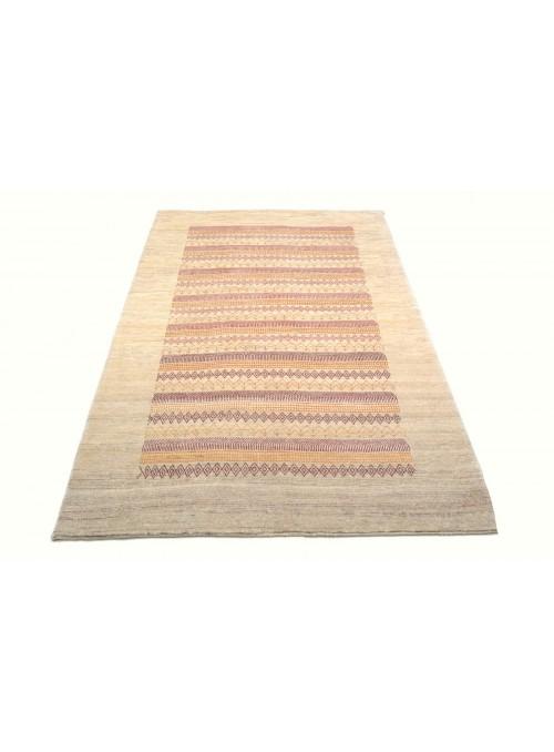 Ręcznie tkany galeryjny dywan perski Gabbeh Loribaft Iran 130x200cm wełna beżowy