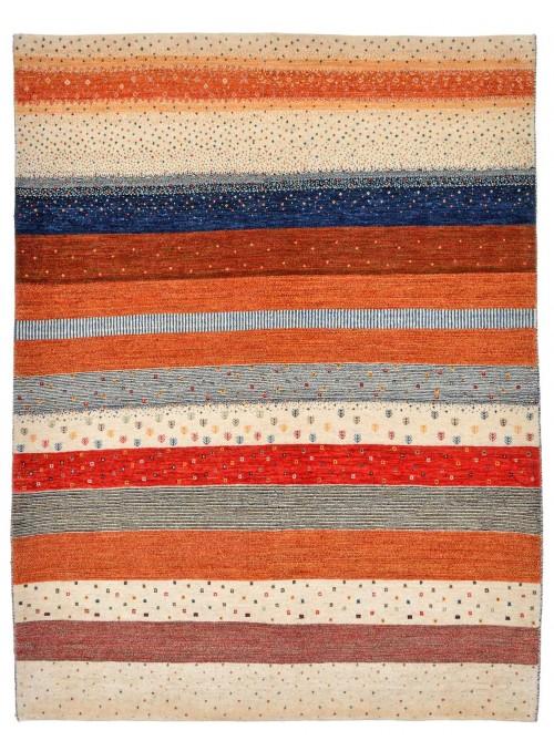 Ręcznie tkany galeryjny dywan perski Gabbeh Loribaft Iran 160x210cm wełna kolorowy