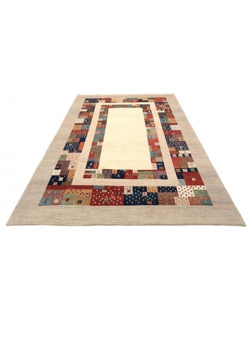 Hand-made Persian carpet Gabbeh Loribaft ca. 200x300cm 100% wool multi
