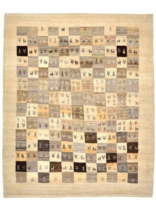 Ręcznie tkany galeryjny dywan perski Gabbeh Loribaft Iran 155x200cm wełna patchwork