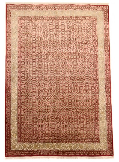 Hand made Iran carpet Tabriz Herati 250x350cm wool/silk