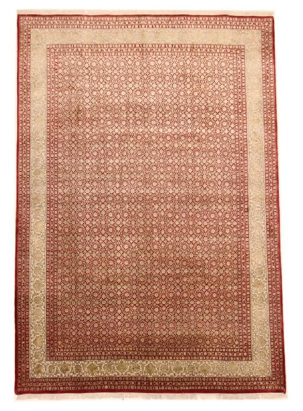 Orient Teppich handgeknüpft Iran Tabriz Herati 250x350cm Wole/Seide