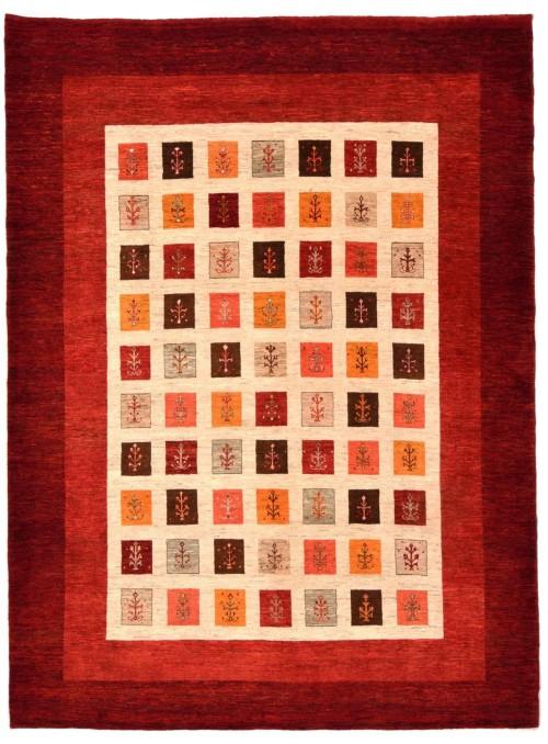 Ręcznie tkany galeryjny dywan perski Gabbeh Loribaft Iran 250x350cm wełna patchwork