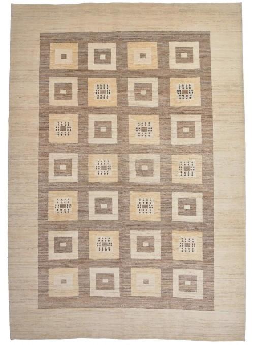 Ręcznie tkany galeryjny dywan perski Gabbeh Loribaft Iran 270x380cm wełna patchwork