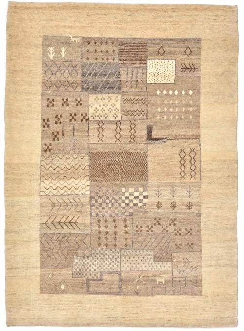 Ręcznie tkany galeryjny dywan perski Gabbeh Loribaft Iran 110x160cm wełna patchwork