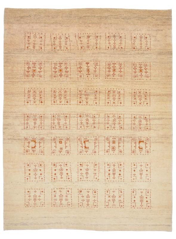 Ręcznie tkany galeryjny dywan perski Gabbeh Loribaft Iran 150x200cm wełna patchwork