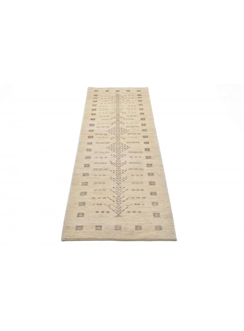 Ręcznie tkany galeryjny dywan perski Gabbeh Loribaft Iran 85x290cm wełna chodnik