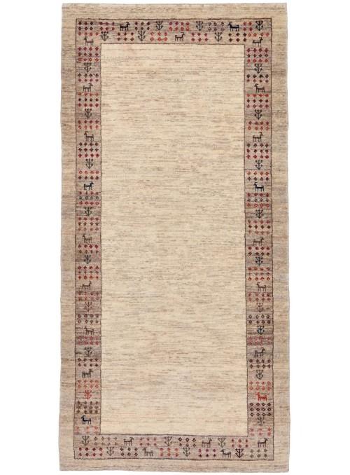 Ręcznie tkany galeryjny dywan perski Gabbeh Loribaft Iran 85x180cm wełna chodnik