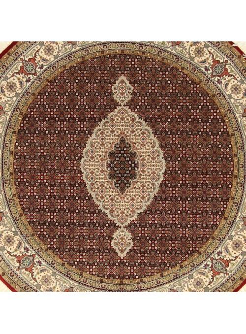 Ręcznie tkany dywan Tabriz Mahi Iran wełna /jedwab 180x180cm okrągły