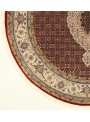 Orient Teppich handgeknüpft Iran Tabriz Mahi 180x180cm Wole/Seide rund