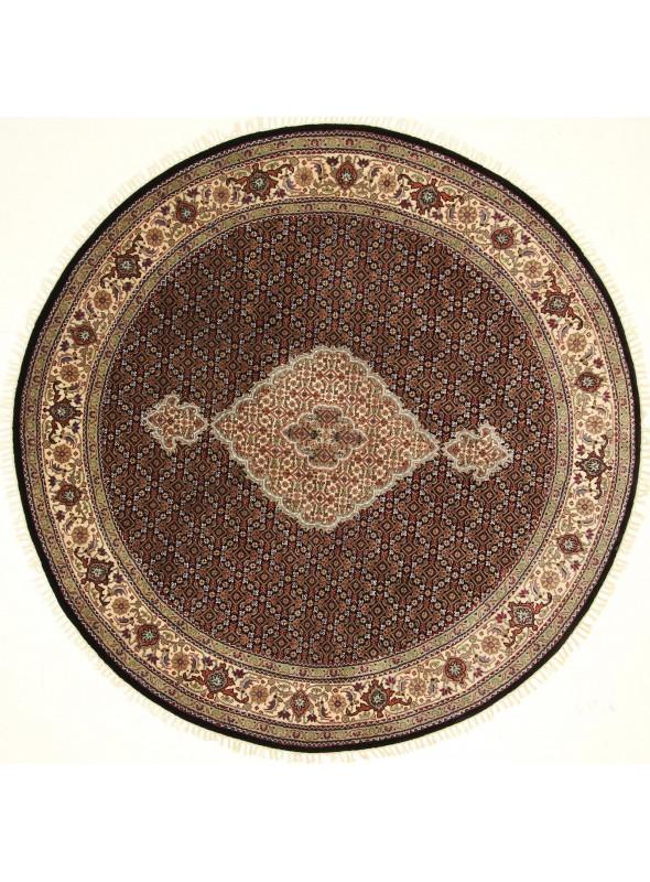 Ręcznie tkany dywan Tabriz Mahi Iran wełna /jedwab 200x200cm okrągły