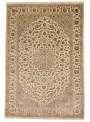 Luksusowy ręcznie tkany dywan Tabriz Iran wełna i jedwab 200x300cm beż/brąz
