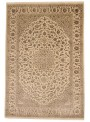 Luxury hand made carpet Tabriz 200x300cm wool and silk beige/brown